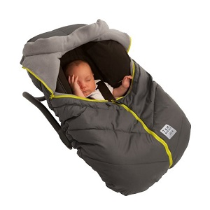 7AM Enfant Car Seat Cocoon: Infant Car Seat Cover Micro-Fleece Lined with an Elasticized Base, Gray