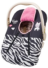 EVC Cozy Baby Car Seat Cover for Winter, Pink Zebra