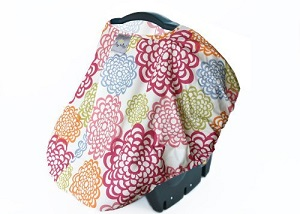 Itzy Ritzy Peek-a-Boo Pod infant car seat cover