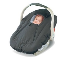 Jolly Jumper Infant Sneak A Peek Car Seat Cover For Winter Black