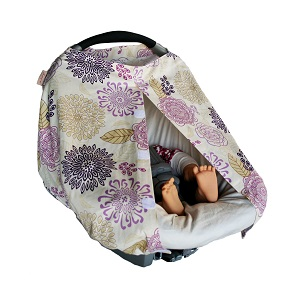Baby Car Seat Infant Cover - The Peanut Shell car seat cover