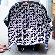 Carseat Canopy Baby Infant Car Seat Cover with Attachment Straps and Minky Fabric & Protect Your Baby With an Infant Canopy Car Seat Cover.