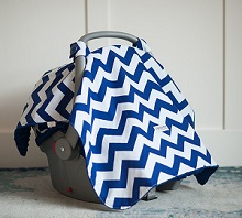 Carseat Canopy Jagger Baby Infant Car Seat Cover With Attachment Straps And Minky Fabric